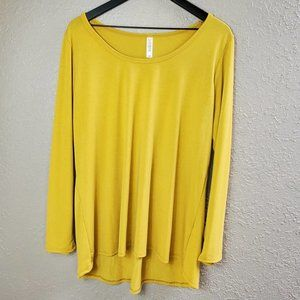 Women's Sz. 2XL Mustard Yellow Long Sleeve Tee